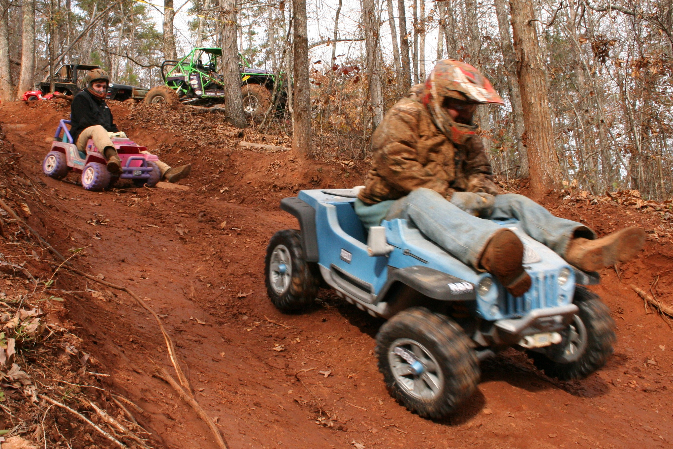 Extreme downhill barbie jeep racing #3