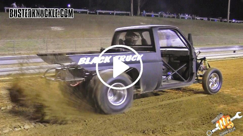 black truck sand dragster