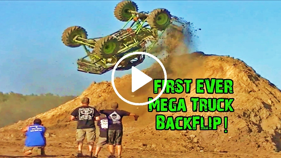 first mega truck backflip
