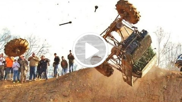 mega mud truck backflip gone wild