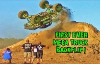 World's First Mega Truck Backflip