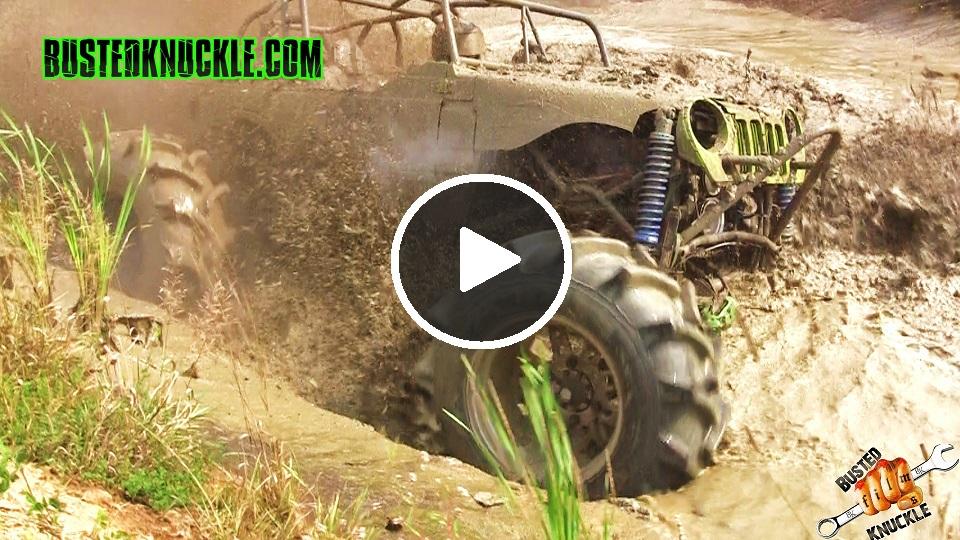 Mega Mud Trucks Going Deep