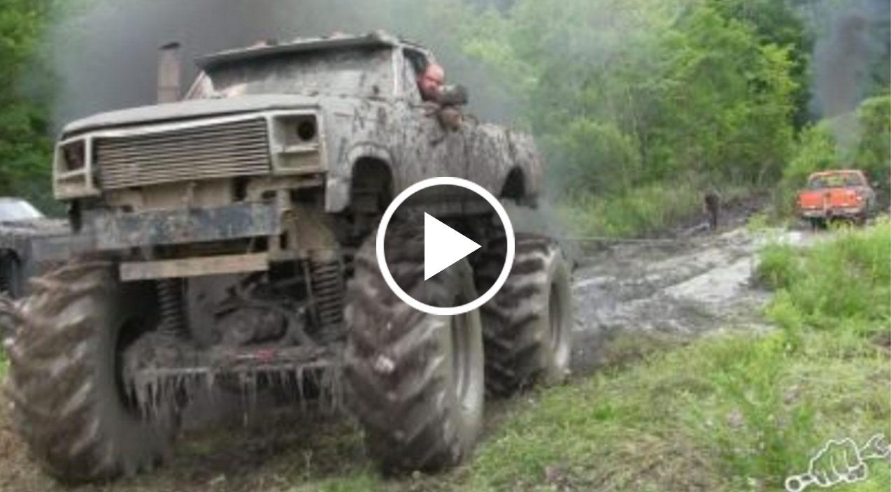 Mega Trucks Go Powerline Mudding - Busted Knuckle Films