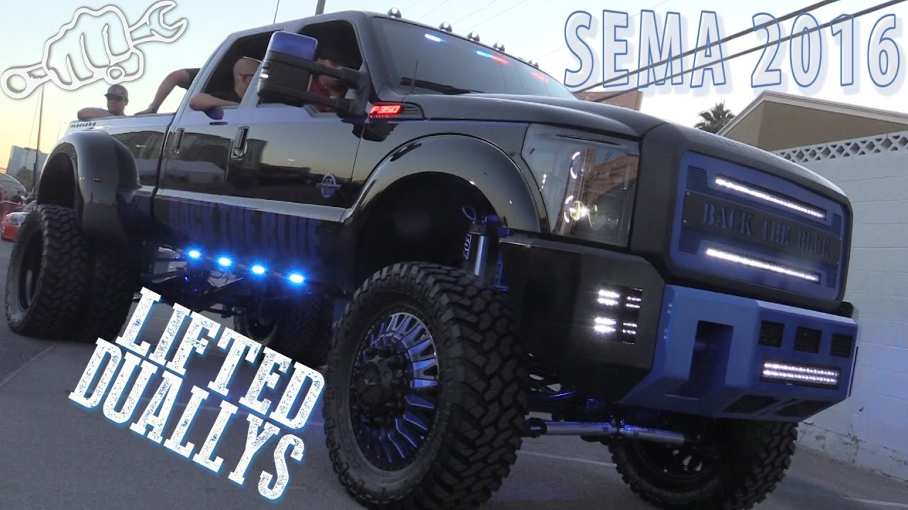 Lifted Dually Trucks of SEMA 2016 - Busted Knuckle Films