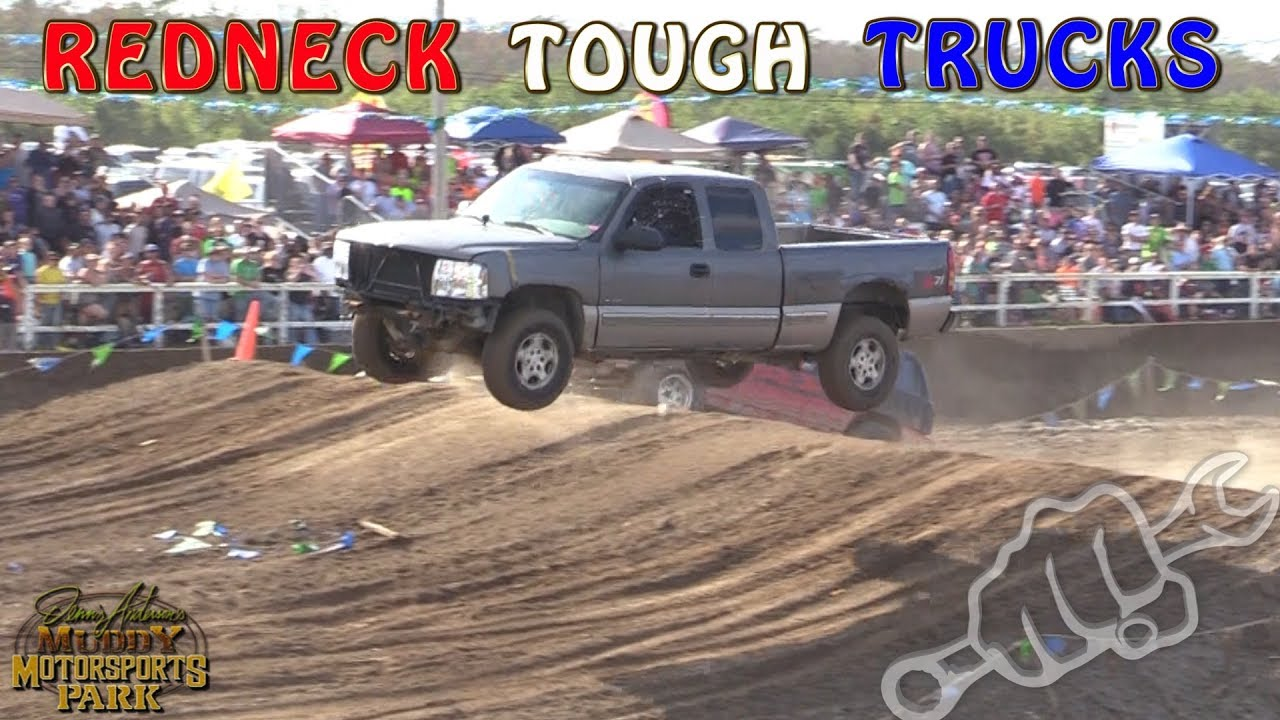 Redneck tough truck racing north vs south 2017 at damm park