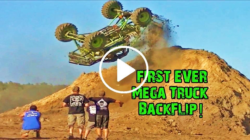 first mega truck backflip