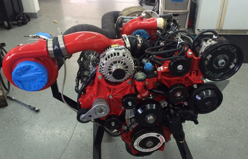Twin Turbo Duramax LBZ Engine