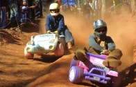 Extreme Downhill Barbie Jeep Racing