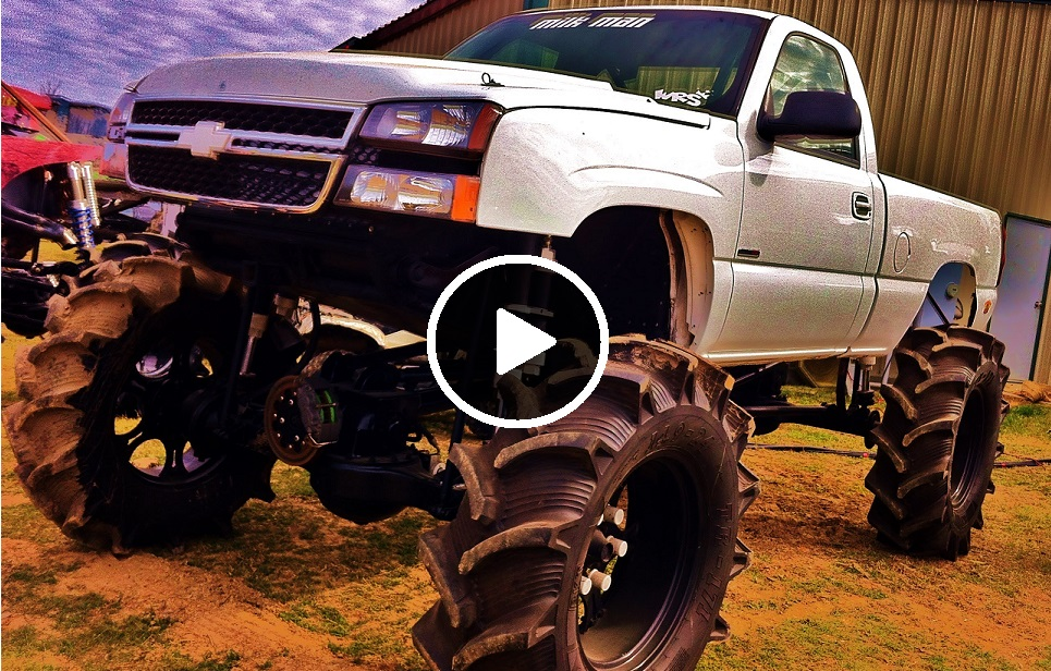 This Nasty Duramax powered Mega Truck was built by All Out Performance and features 2.5 ton rockwells and an Allison transmission.