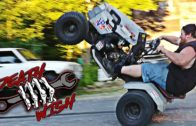 Street Bike Powered Lawn Mower = Deathwish