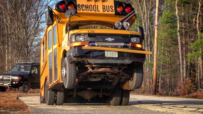 Deathwish Spool Bus Wheelie